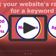 Track your website's rank for a keyword