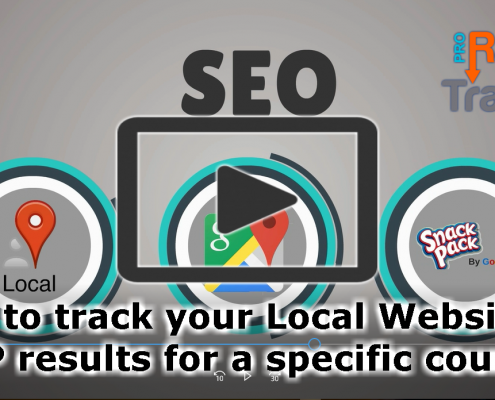 How to track your Local Website's SERP results for a specific country?