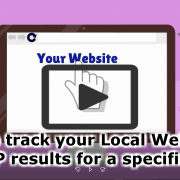 How to track your Local Website's SERP results for a specific city?