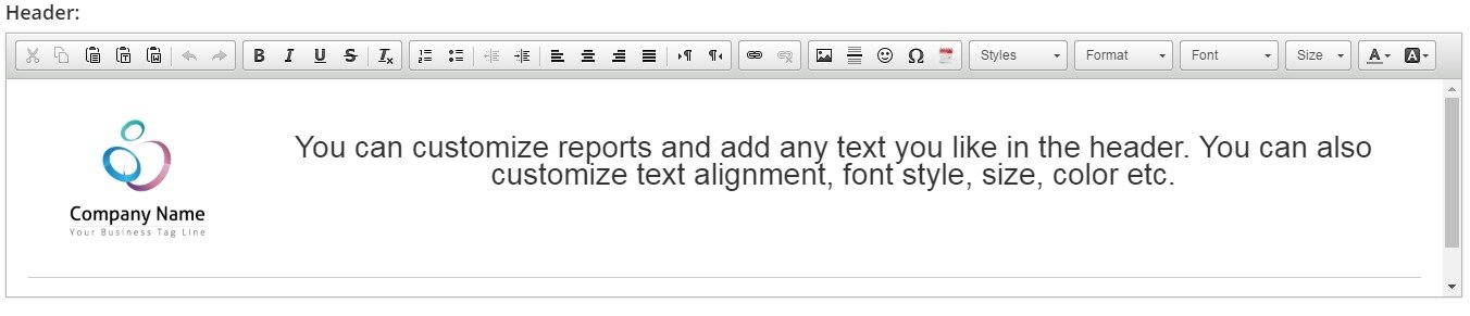 Customize Templates for your Reports