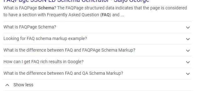 FAAQ Schema Markup